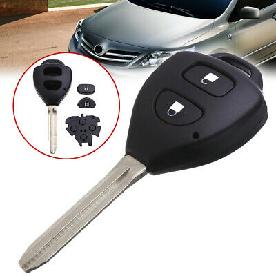 Car 2 Button Remote Key Fob Shell Case Replacement for TOYOTA Corolla Rav4 Camry