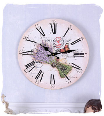 Kitchen Clock Shabby Chic Country Wall Clock Lavender Watch Country House Style