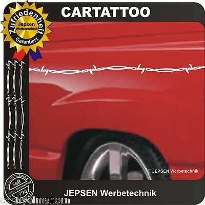 7 Meter Barbed Wire Tattoo Sticker 7 Piece 100x2, 5cm Car Motorcycle Motorhome