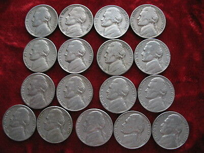 Lot of (17) Different D MINT Jefferson Nickels, 1938D to 1959D!