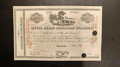 0403-----1934 Little Miami RR Co stock certificate