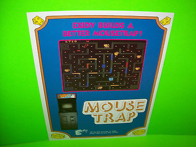 Exidy MOUSE TRAP 1981 Original Vintage Video Arcade Game Ad Not A Sales Flyer