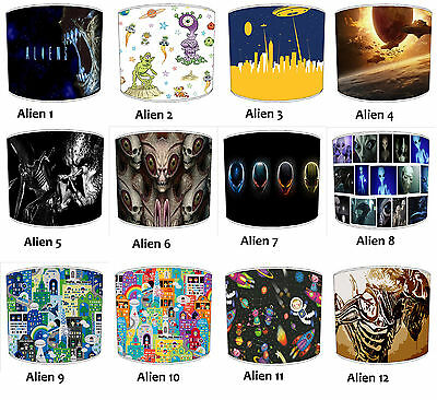 Outer Space Lampshades, Ideal To Match Alien Outer Space UFO Cushions & Covers.