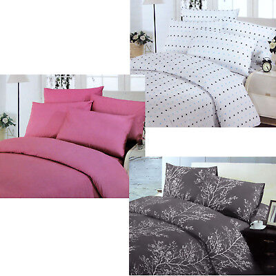 3 Pce Easy Care Polyester Cotton Quilt Doona Duvet Cover Set - DOUBLE