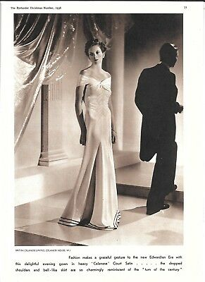 1936 Celanese Court Satin Evening Gown Ad