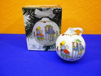 Hutschenreuther Weihnachtskugel 1987 in OVP Christmas Ball Ole Winther Design