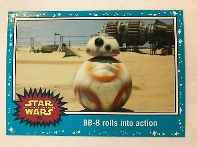 2015 Star Wars: Journey to The Force Awakens #82 BB-8 rolls into action NM-Mint