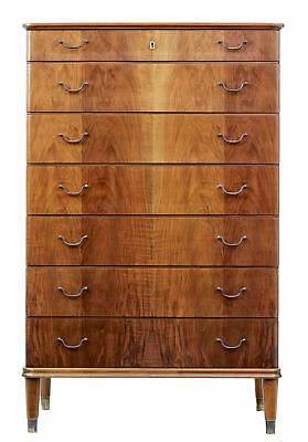 1950's DANISH SEMANIERE TALL CHEST OF DRAWERS BY OMANN JUN