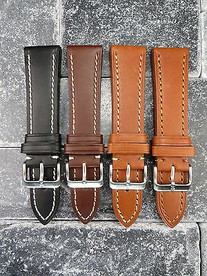 23mm VICTORINOX SWISS ARMY Brown COW LEATHER STRAP CAVALRY Thick Watch BAND BK X