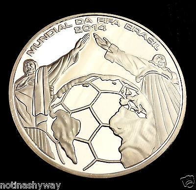 WORLD CUP 2014 Silver Coin Goal Net Statue of Jesus Christ Russia Football 2018