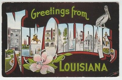 66920 1945 large letter postcard greetings from new orleans 66920 1945 large letter postcard greetings from new orleans louisiana m4hsunfo