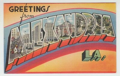 [66922] Old Large Letter Postcard Greetings From Alexandria, Louisiana