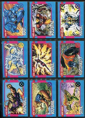 1992 X-MEN SERIES I 1 IMPEL MARVEL COMPLETE CARD SET #1-100 Jim Lee