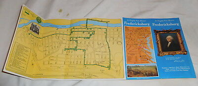 vintage Fredricksburg Virginia Brochure the land of Washington