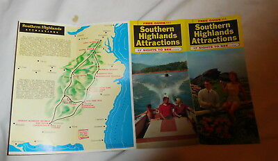 vintage Southern Highlands Attractions Cherokee North Carolina brochure