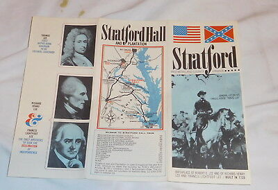 vintage Stratford Westmorland County Virginia brochure Stratford Hall Plantation