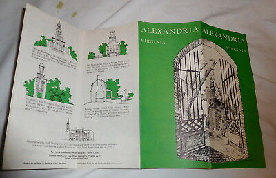 vintage Alexandria Virginia brochure gunston hall Woodland Plantation