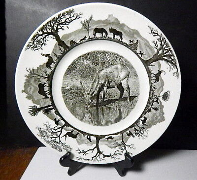 Wedgwood KRUGER National Park, WATERBUCK Dinner Plate w/Map