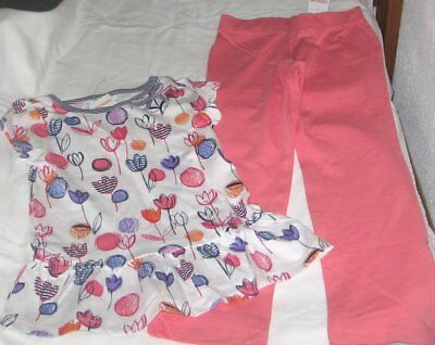 NWT Girls 7 GYMBOREE 2 Pc Outfit Yoga Pants and Short Sleeve Top NEW
