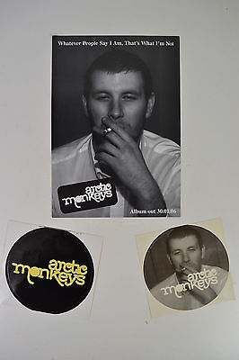 Arctic Monkeys 2006 Stickers Flier Postcard Whatever People Say I Am 1St Album
