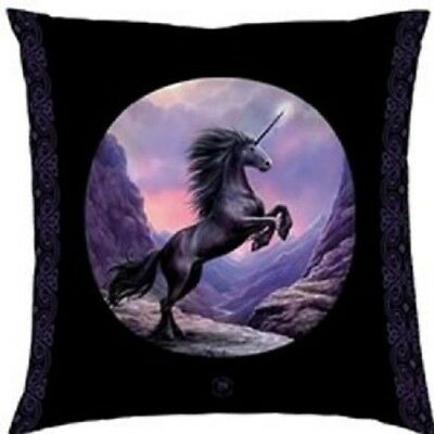 Anne Stokes Black Unicorn Fantasy Mythical Large Pillow Cushion