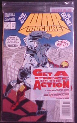 WAR MACHINE #8! POLYBAGGED with PREVIEW COMIC and PRINT! 1994 MARVEL COMICS