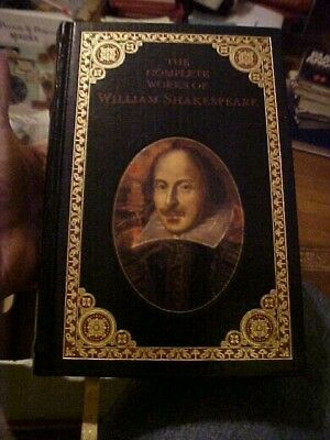 BOOK COMPLETE WORKS of WILLIAM SHAKESPEARE, BARNRS & NOBLE LEATHER OVERSIZED