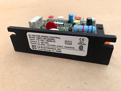 Kb Electronics Kbic-120 Solid State Variable Speed Dc Motor Control Inductoheat