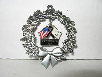 September 11th 2001 Wreath Ornament - United We Stand - 9/11/01
