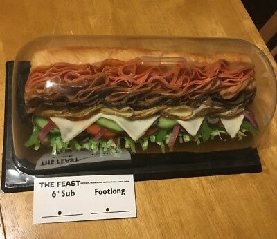 Footlong subway The Feast Replica Sub Sandwich Fake Foods Display Plastic Foods