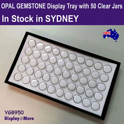 Opal Tray GEMSTONE Storage Display | 50 Gem Jars | HIGH Quality | AUS Stock