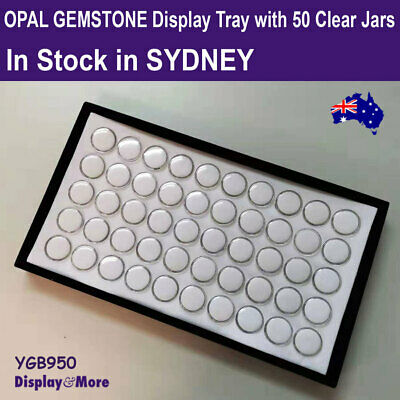 PREMIUM QUALITY Gemstone Opal Display Storage Tray-50 Gem Jars | AUSSIE Seller