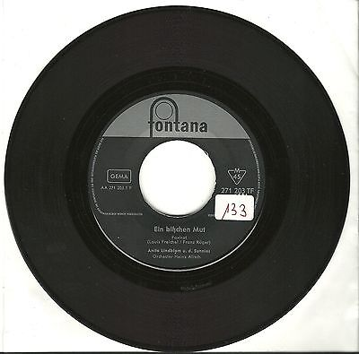 Anita Lindblom, Ein bißchen Mut, neutral/VG, 7'' Single, 1117