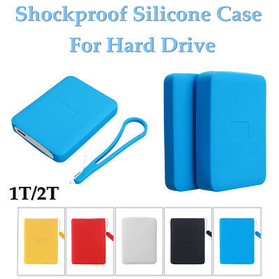 Shockproof Hard Drive Protective Silicone Case Cover For WD My Passport 1T 2T