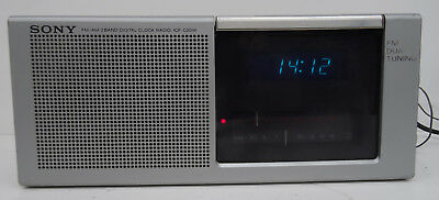 vintage alarm clock am fm radio - Sony Digimatic ICF-C20W Radiowecker Wecker