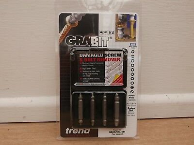 Trend Pro Grabit 4 Pce Damaged Screw & Bolt Remover Grab/se2/set