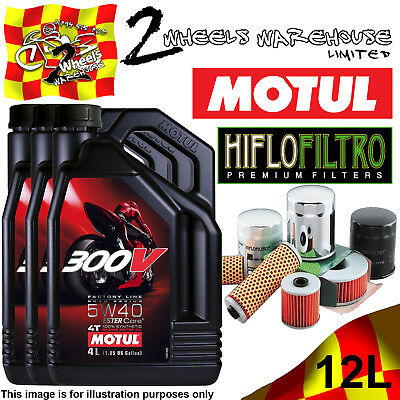 12L Motul 300V 5W40 Oil And Hiflo Hf128 Filter Fits Kawasaki Quad Sxs Listed