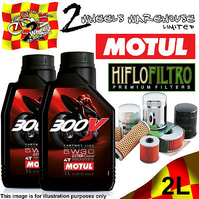 2L Motul 300V 5W30 Oil And Hiflo Hf128 Filter Fits Kawasaki Quad Sxs Atv Listed