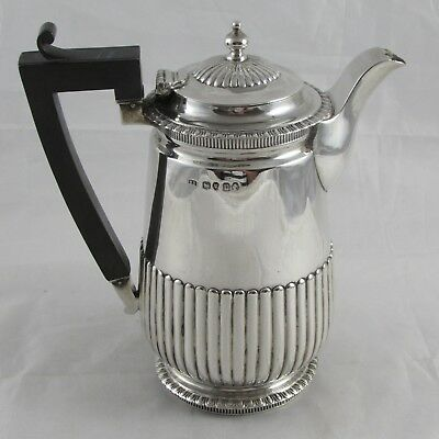 SUPERB ANTIQUE VICTORIAN SILVER HOT WATER JUG FREDERICK BRASTED 1875 402g