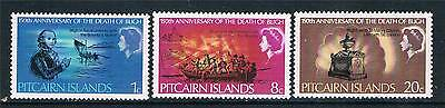 Pitcairn Is 1967 Anniv. of Captain Bligh SG 82/4 MNH