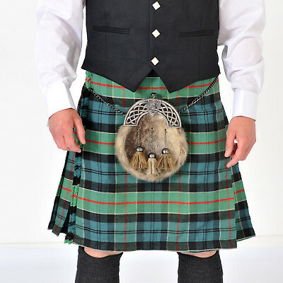 "Ancient Colquhoun 8 Yard Scottish Kilt Ex Hire excellent condition 24"" drop"
