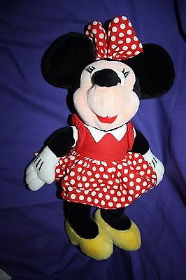 Walt Disney World Minnie Mouse Red Polka Dot Plush 16""