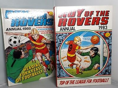 Roy of the Rovers Annual's x 2 1985/1983 Vintage/Retro Football/Soccer unclipped