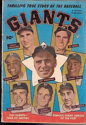 1952 Fawcett Comic Book The National League Champion New York Giants Mays Irvin