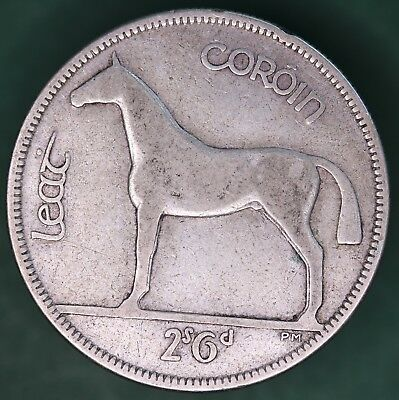 1933 Irish EIRE Ireland Half Crown 2/6 coin, 75% silver *[10877]