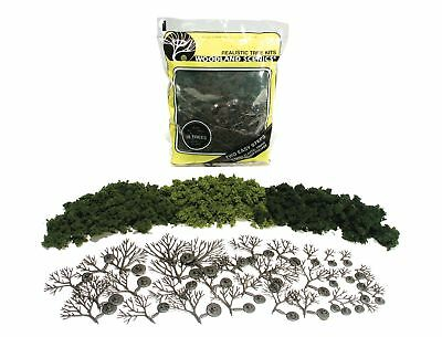 "Woodland Scenics TR1102 Deciduous Tree Kit  (14 Trees) 3-5"" Light,Med,Dark Green"