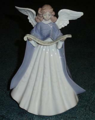 Glossy Lladro Angel Tree Topper Figurine #5875 - MINT CONDITION COLLECTIBLE!