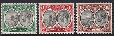 Dominica 1923 Kgv Ship 1/2D 1D And 11/2D