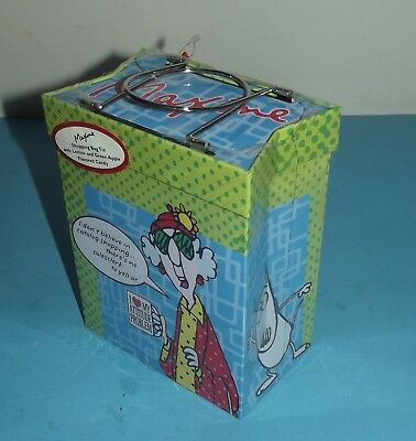 "Maxine Hallmark Shopping Bag Tin There's No Salesclerk To Yell At w Tag 7""x 5.5"""