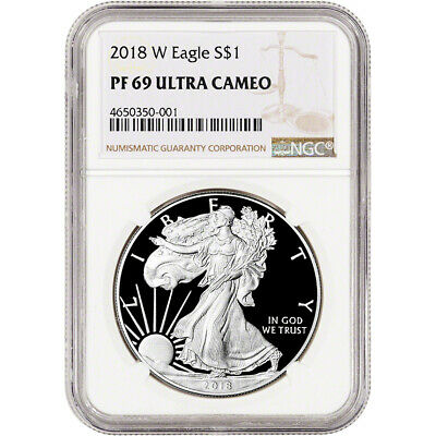 2018-W American Silver Eagle Proof - NGC PF69 UCAM
